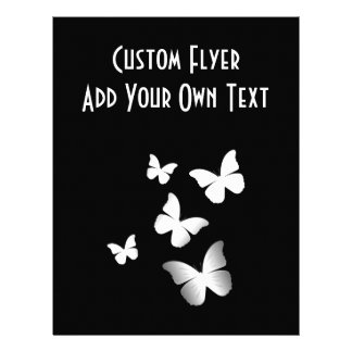 5 White Butterflies Full Color Flyer