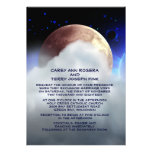 "5"" x 7"" Deep Space Planets Wedding Invitation"