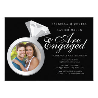5 x 7 Engagement Ring Engagement Party Invite