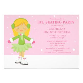 5 x 7 Ice Skating Birthday Party Invite