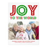 5 x 7 Joy To The World | Photo Holiday Card Personalised Invites