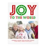5 x 7 Joy To The World | Photo Holiday Card Personalised Invites