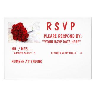 "5 X 7 RSVP"", Standard white envelopes included Card"