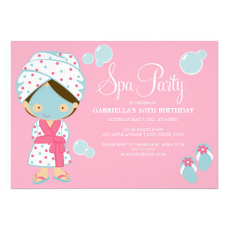5 x 7 Spa Party | Party Invite
