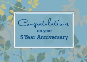 5 year employee anniversary card - Employee Anniversary Cards