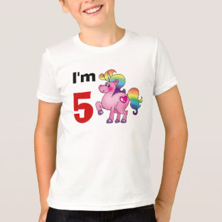 5 year old birthday girl gift ( unicorn pony ) T-Shirt