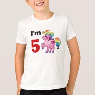 5 year old birthday girl gift ( unicorn pony ) t shirt