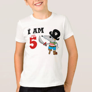 5 year old pirate birthday boy T-Shirt