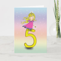 Year Old Princess Birthday Card for Girls