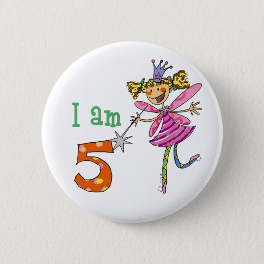 5 year old princess fairy 6 cm round