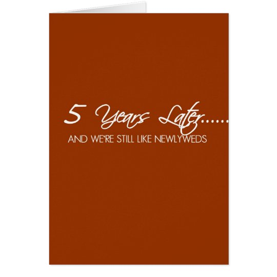 5 Year Wedding Anniversary Card