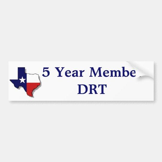 5 Yr Member Bumper Sticker