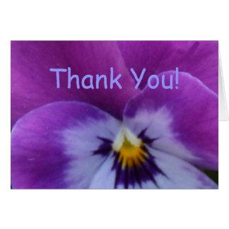 5a Lavender Purple Blue Pansy Card