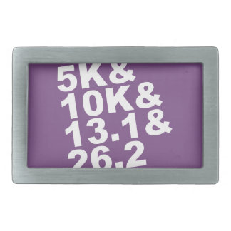 5K&10K&13.1&26.2 (wht) Rectangular Belt Buckles