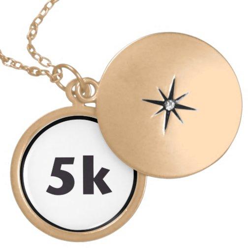 5k circle. pendant