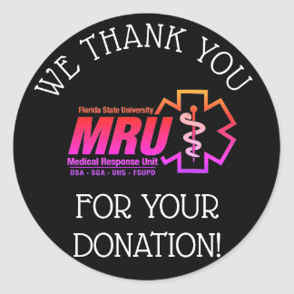 5K/event donation thank you stickers
