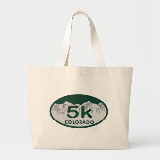 5k license oval tote bags