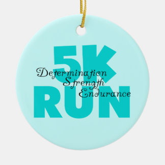 5K Run Aqua Sports Running Christmas Ornament