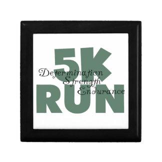 5K Run Green Sports Running Small Square Gift Box