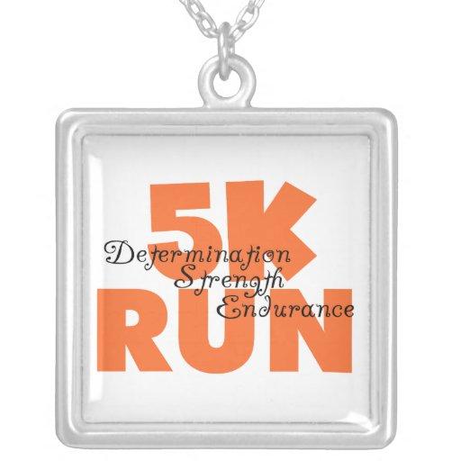 5K Run Orange Jewelry