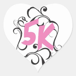 5k Runner or Walker Heart Sticker