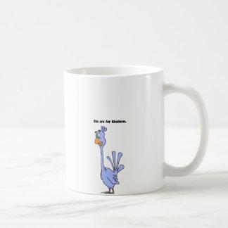 5ks are for Chickens Blue Bird Marathon Cartoon Mugs