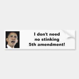 5th Amendment Bumper Sticker