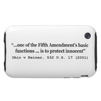 5th Amendment Ohio v Reiner 532 U.S. 17 (2001) Tough iPhone 3 Case