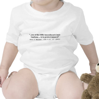 5th Amendment Ohio v Reiner 532 U.S. 17 (2001) Baby Bodysuit