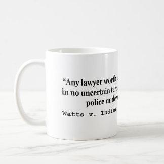 5th Amendment Watts v Indiana 338 US 49 1949 Coffee Mug