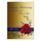 5th Anniversary card for Daughter & son-in-law