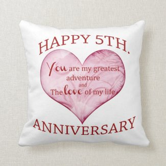 5th. Anniversary Cushion