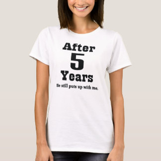 5th Anniversary (Funny) T-Shirt