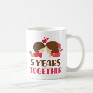 5th Anniversary Gift For Her Classic White Coffee Mug