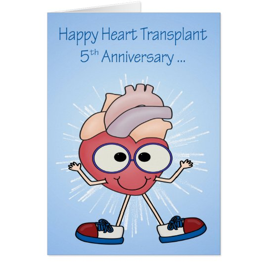 5th Anniversary Of Heart Transplant greeting cards