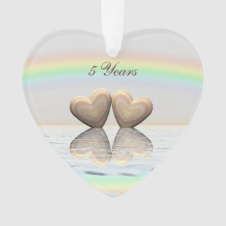 5th Anniversary Wooden Hearts