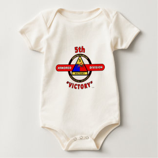 "5TH ARMORED DIVISION ""VICTORY"" DIVISION BABY BODYSUIT"