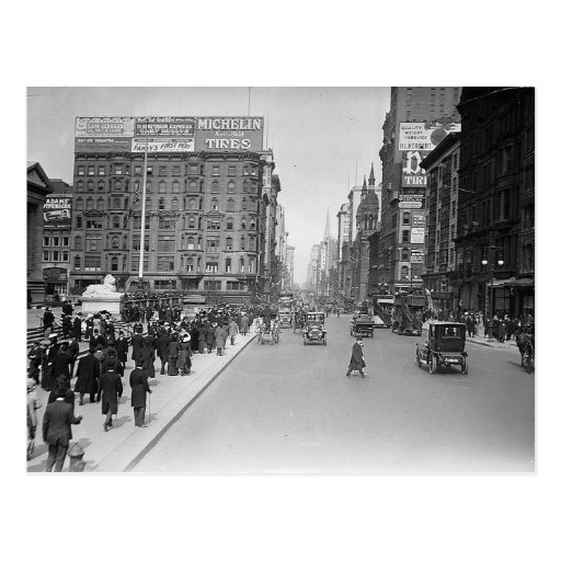 5th Ave. at 42nd Street, New York City 1913 Vintag Post Cards