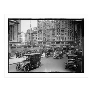 5th Ave. at 42nd Street, New York City 1913 Vintag Post Card
