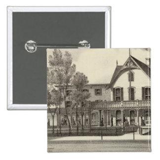 5th Avenue House, Ocean Beach, NJ 15 Cm Square Badge