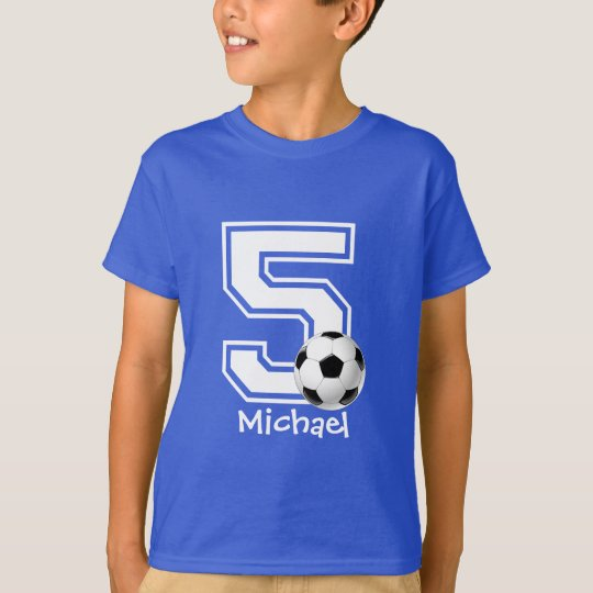 5th Birthday boy soccer personalised-2 T-Shirt