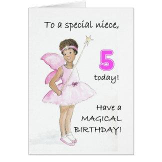 5th Birthday Card for a Niece