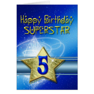 5th Birthday card for Superstar