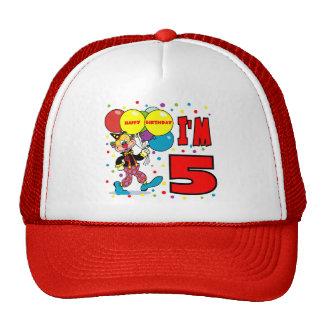 5th Birthday Clown Birthday Trucker Hat