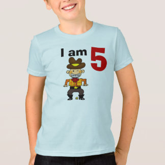 5th birthday cowboy gift T-Shirt