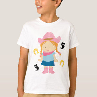 5th Birthday Cowgirl T-Shirt