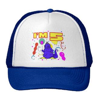 5th Birthday Dinosaur Birthday Mesh Hat