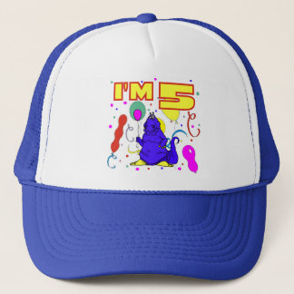 5th Birthday Dinosaur Birthday Trucker Hat