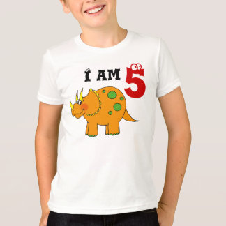 5th birthday gift, dinosaur triceratops T-Shirt