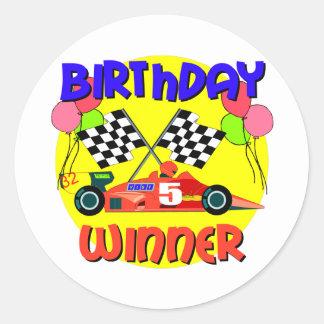 5th Birthday Gift Round Sticker